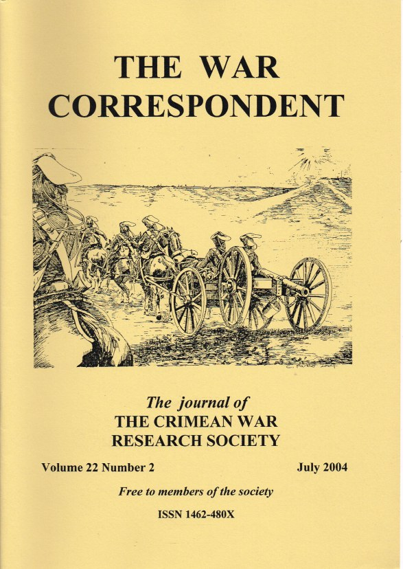 Image for THE WAR CORRESPONDENT: THE JOURNAL OF THE CRIMEAN WAR RESEARCH SOCIETY : VOLUME 22, NUMBER 2 JULY 2004