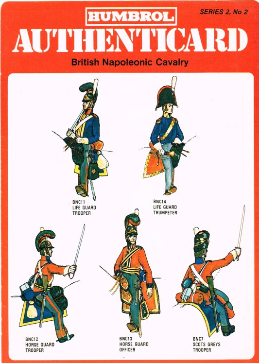 Image for HUMBROL AUTHENTICARD SERIES 2, NO.2: BRITISH NAPOLEONIC CAVALRY