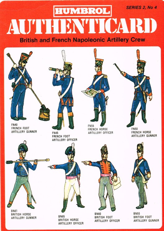 Image for HUMBROL AUTHENTICARD SERIES 2, NO.4: BRITISH AND FRENCH NAPOLEONIC ARTILLERY CREW