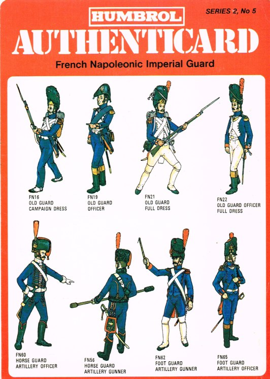 Image for HUMBROL AUTHENTICARD SERIES 2, NO.5: FRENCH NAPOLEONIC IMPERIAL GUARD