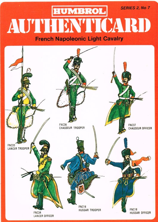 Image for HUMBROL AUTHENTICARD SERIES 2, NO.7: FRENCH NAPOLEONIC LIGHT CAVALRY
