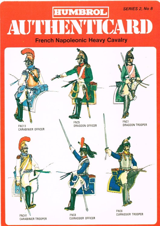 Image for HUMBROL AUTHENTICARD SERIES 2, NO.8: FRENCH NAPOLEONIC HEAVY CAVALRY