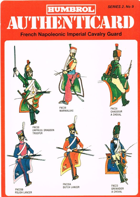 Image for HUMBROL AUTHENTICARD SERIES 2, NO.9: FRENCH NAPOLEONIC IMPERIAL CAVALRY GUARD