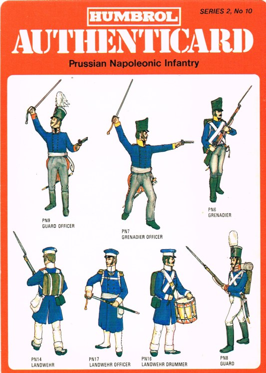 Image for HUMBROL AUTHENTICARD SERIES 2, NO.10: PRUSSIAN NAPOLEONIC INFANTRY