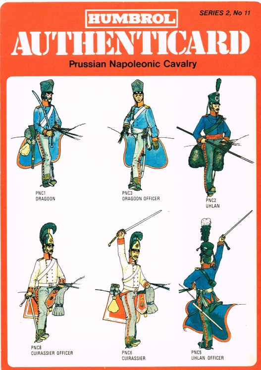 Image for HUMBROL AUTHENTICARD SERIES 2, NO.11: PRUSSIAN NAPOLEONIC CAVALRY