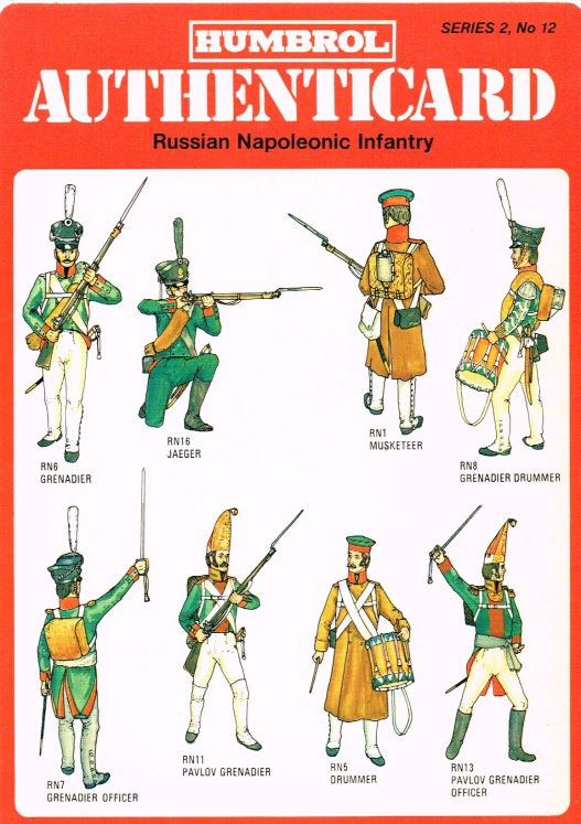 Image for HUMBROL AUTHENTICARD SERIES 2, NO.12: RUSSIAN NAPOLEONIC INFANTRY