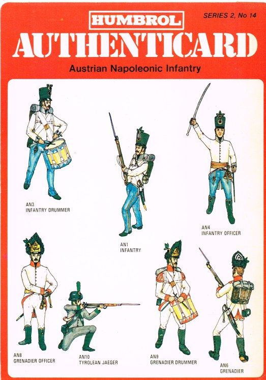 Image for HUMBROL AUTHENTICARD SERIES 2, NO.14: AUSTRIAN NAPOLEONIC INFANTRY