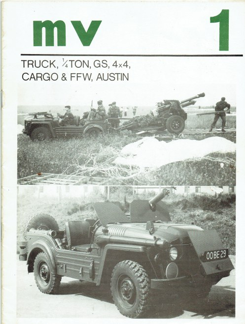 Image for MV 1: TRUCK, 1/4 TON, GS, 4X4, CARGO & FFW, AUSTIN (CHAMP)