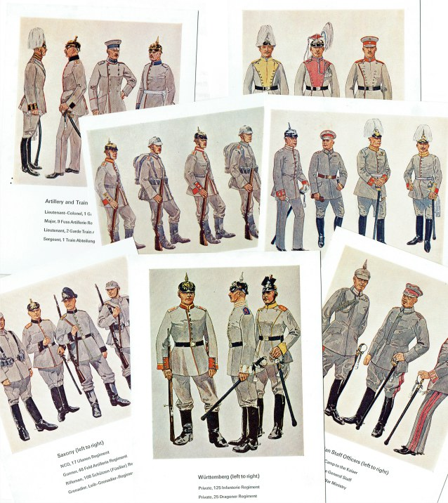Image for GERMAN UNIFORMS, FIRST WORLD WAR SERIES (7 POSTCARDS)
