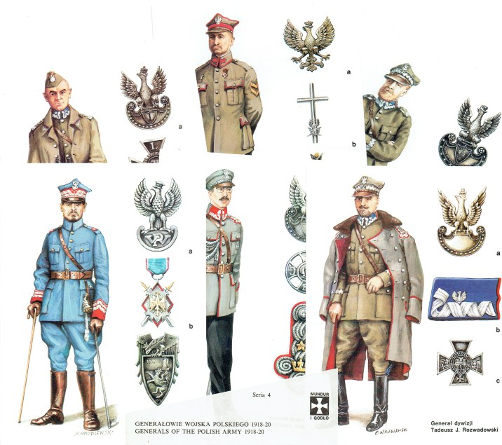 Image for MUNDUR I GODLO SERIA 4: GENERALS OF THE POLISH ARMY 1918-20 (SET OF 6 POSTCARDS)