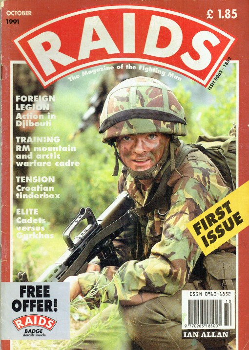 Image for RAIDS : THE MAGAZINE OF THE FIGHTING MAN : ISSUE 1 OCTOBER 1991