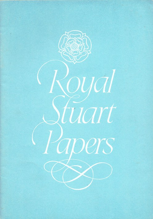 Image for ROYAL STUART PAPERS XX: MAJOR-GENERAL SIR JOHN DIGBY 'PEERLEESE CHAMPION AND MIRROUR OF PERFECT CHIVALRIE'