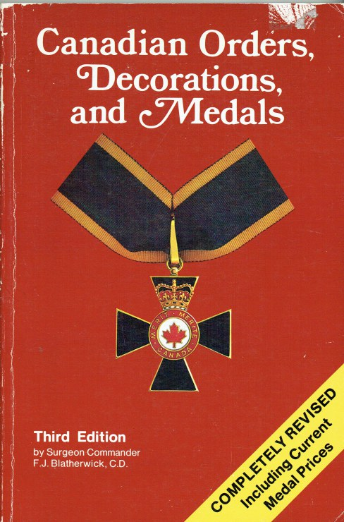 Image for CANADIAN ORDERS, DECORATIONS, AND MEDALS (THIRD EDITION)