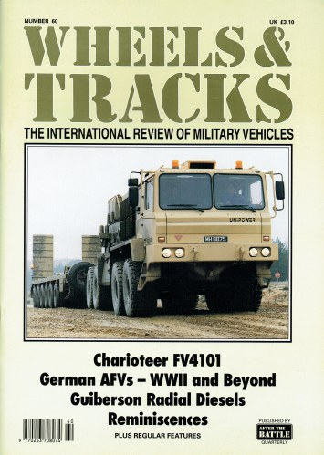 Image for WHEELS & TRACKS: THE INTERNATIONAL REVIEW OF MILITARY VEHICLES: NUMBER 60