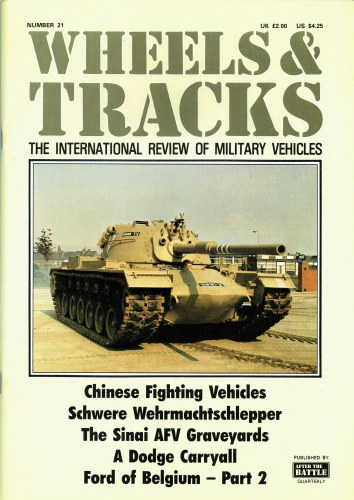Image for WHEELS & TRACKS: THE INTERNATIONAL REVIEW OF MILITARY VEHICLES: NUMBER 21