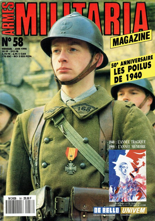 Image for ARMES MILITARIA MAGAZINE NO. 58 (FRENCH TEXT)