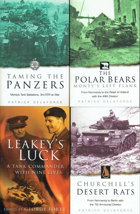 Image for TAMING THE PANZERS / THE POLAR BEARS / LEAKEY'S LUCK / CHURCHILL'S DESERT RATS (SET OF 4 PAPERBACK WW2 BOOKS)