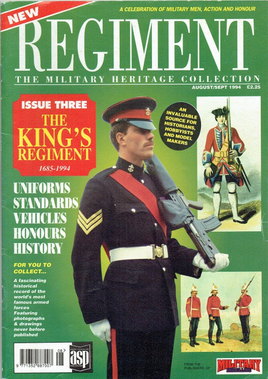 Image for REGIMENT: ISSUE THREE - THE KING'S REGIMENT 1685-1994