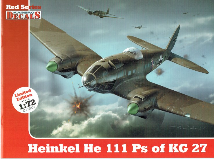 Image for KAGERO DECALS RED SERIES : HEINKEL HE 111 PS OF KG 27