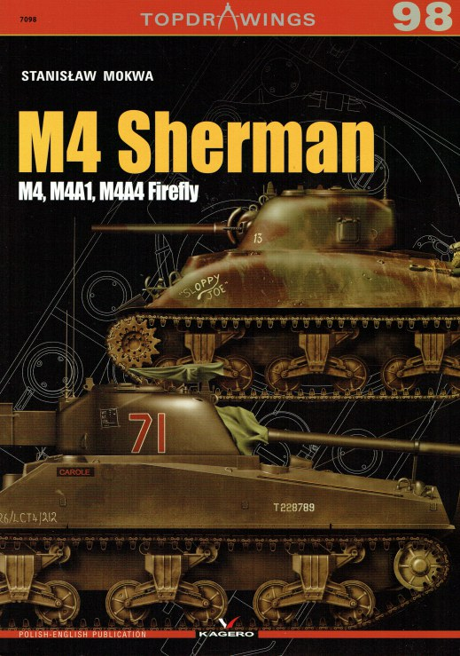 Image for TOPDRAWINGS 98: M4 SHERMAN : M4, M4A1, M4A4 FIREFLY
