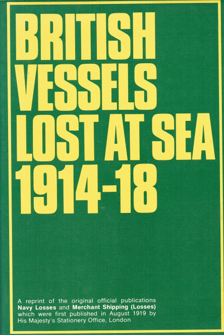 Image for BRITISH VESSELS LOST AT SEA 1914-18