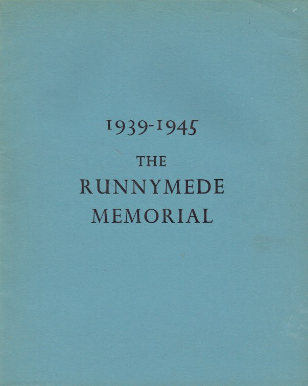 Image for 1939 - 1945 THE RUNNYMEDE MEMORIAL TO AIRMEN WHO HAVE NO KNOWN GRAVE