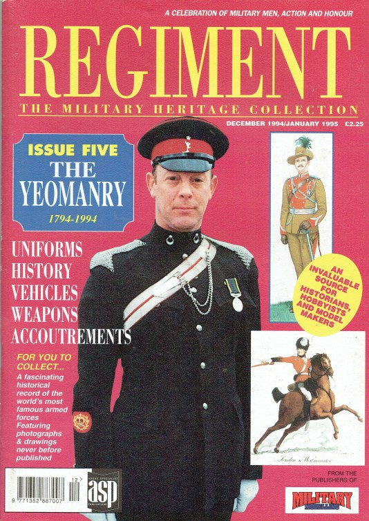 Image for REGIMENT: ISSUE FIVE - THE YEOMANRY 1794-1994