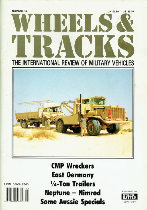 Image for WHEELS & TRACKS: THE INTERNATIONAL REVIEW OF MILITARY VEHICLES: NUMBER 34