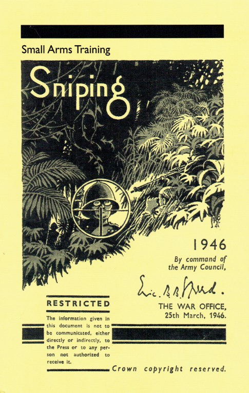 Image for SMALL ARMS TRAINING: SNIPING (1946)