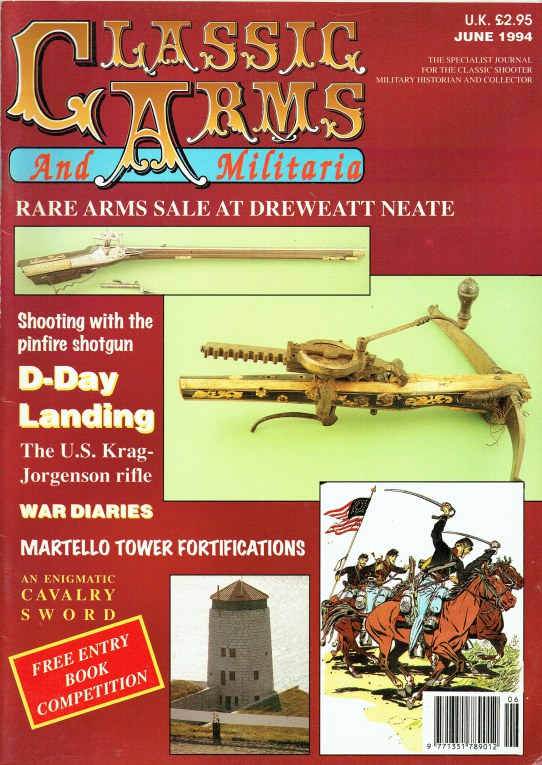 Image for CLASSIC ARMS AND MILITARIA VOL.1 / NO.6 JUNE 1994