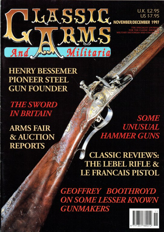 Image for CLASSIC ARMS AND MILITARIA VOL.4, ISSUE 6 NOVEMBER / DECEMBER 1997