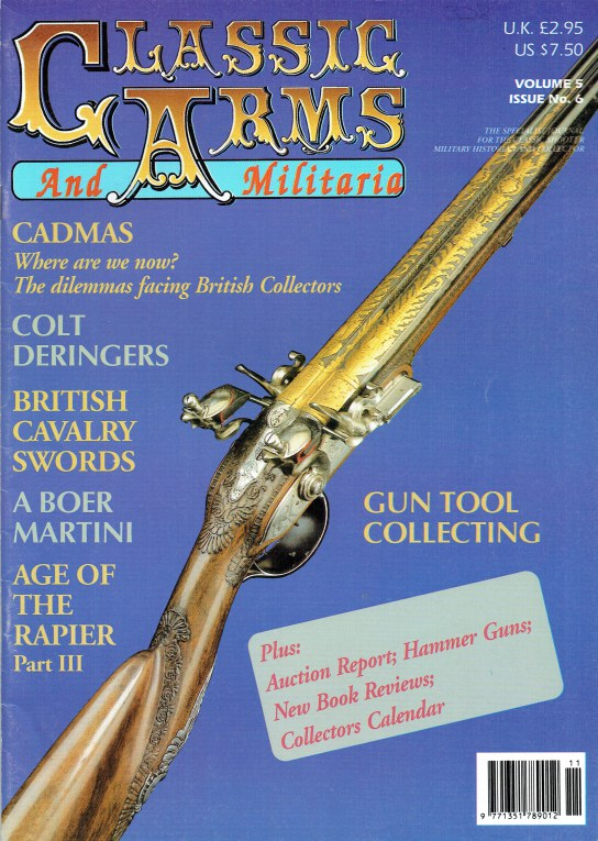 Image for CLASSIC ARMS AND MILITARIA VOL.5, ISSUE 6 NOVEMBER / DECEMBER 1998