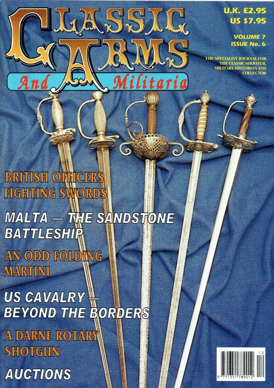Image for CLASSIC ARMS AND MILITARIA VOL.7, ISSUE 6 NOVEMBER / DECEMBER 2000