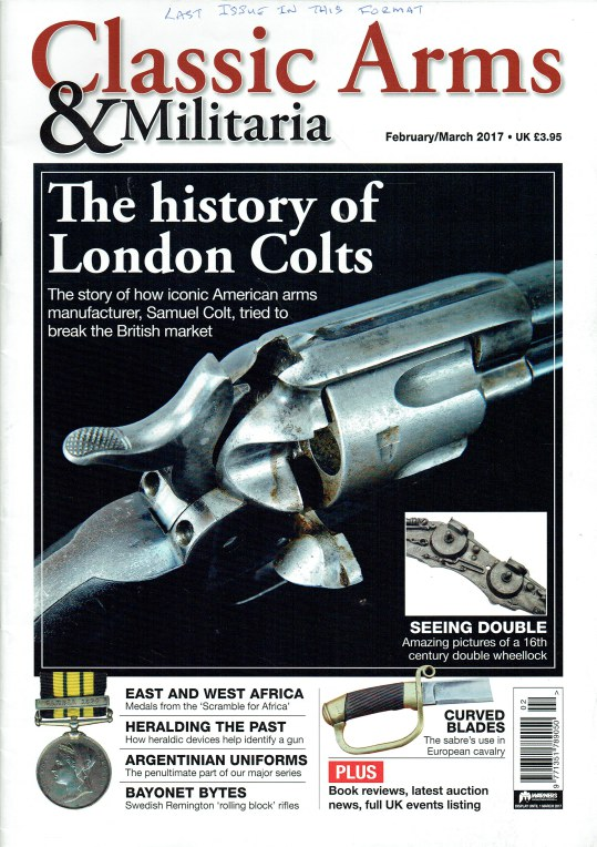 Image for CLASSIC ARMS AND MILITARIA FEBRUARY / MARCH 2017