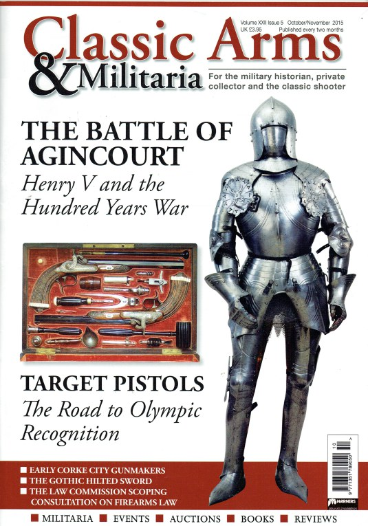 Image for CLASSIC ARMS AND MILITARIA VOL.XXII ISSUE 5 OCTOBER / NOVEMBER 2015