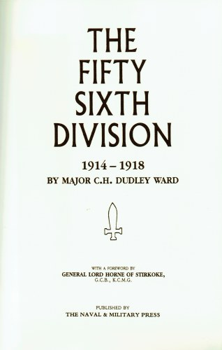 Image for THE FIFTY SIXTH DIVISION (1ST LONDON TERRITORIAL DIVISION) 1914-1918