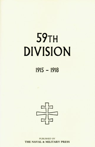 Image for 59TH DIVISION 1915-1918